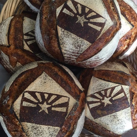baked wheat loaves